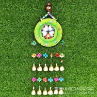 彩绘桃心木盘12铃工艺品创意礼物家居吧装饰风铃挂件玩具