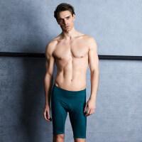 时尚男士五分泳裤加肥加大码宽松泡温泉下装泳裤游泳短裤男士五分游泳裤