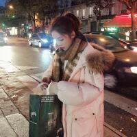 女中长款2018新款冬季天学生棉袄羽绒棉衣ins面服加厚