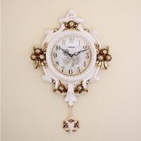 钟表欧式挂钟客厅时尚创意时钟卧室个性艺术美式豪华挂表家用 16英寸