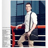 新款休闲单肩包时尚男士斜挎包包帆布包男包竖款韩版背包潮流包