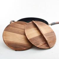 木锅盖杉木锅盖纯手工家用老式木质锅盖水缸盖砂锅盖32cm实木锅盖