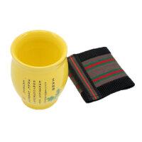 益养天年艾灸刮痧杯双层陶瓷温灸杯魔灸罐 适用于艾柱短艾条艾草艾绒