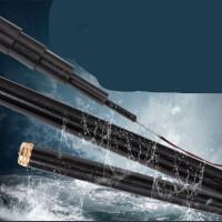 黑棍钓鱼竿28调台钓竿5.4米碳素超轻超硬19调手竿竞技竿