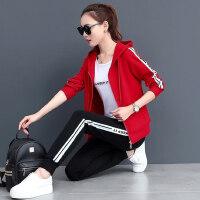 韩版女时尚修身显瘦学生休闲服女卫衣三件套运动套装