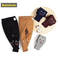 巴拉巴拉女童打底裤小童宝宝裤子冬装新款百搭儿童加绒长裤女