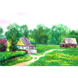 0520 俄罗斯美协会员 古耶诺克 《田园生活》