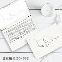 苹果macbook电脑贴纸华为笔记本外壳保护小米air贴膜全套配件超薄