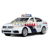 嘉业大众朗逸警车模型四开门警笛音效声光回力合金车模 大众朗逸特警 合金警车 多种警笛声效,大灯尾灯均发光。回力强劲。