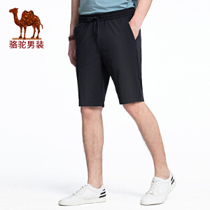 骆驼男装 2018年夏季新款休闲五分裤 男青年直筒中腰弹力运动裤