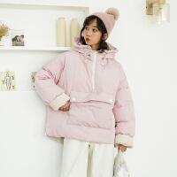 冬季大衣年轻款贵气时尚上衣韩版潮新款冬季小个子套头面包服女卫衣式棉衣短款可爱少女外套新款