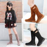 女童秋冬公主儿童鞋韩版中大童运动高筒中筒单靴子时装款休闲女孩