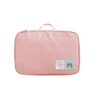 纳彩旅行收纳袋手提旅游衣物收纳包行李箱整理包洗漱包内衣整理袋 NC 衣物包 M码 粉色