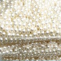 DIY手工材料3-40mm双孔圆珠子串珠饰品配件abs仿珍珠散珠批发