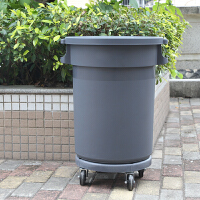 塑料环卫垃圾桶室外大号带轮子储物桶带盖有盖垃圾箱工业圆形户外