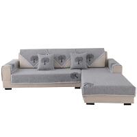 纯色棉麻沙发垫夏季布艺坐垫四季通用简约现代沙发巾套罩全盖