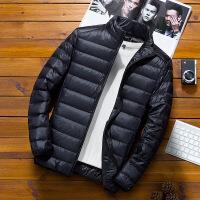 男士羽绒服短款韩版潮流2018冬季新款青少年轻薄立领帅气加厚外套