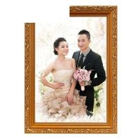 艾欧唯 实木欧式挂墙相框摆台7 8 10 12 A4 18 20 30寸婚纱照片拼图画框