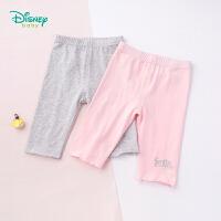 迪士尼Disney童装 女童甜美花边打底裤春季新品弹力裤子女孩字母印花长裤191K823