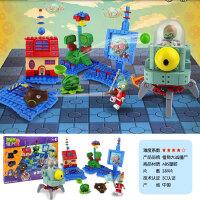 植物大战僵尸2 玩具积木兼容乐高可发射套装拼装儿童拼插男孩