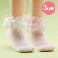 儿童袜子春秋公主蕾丝花边袜子女童舞蹈袜白色透气薄学生短袜