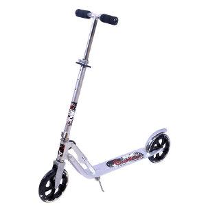 【当当自营】炫梦奇 滑板车德国成人滑行车二轮滑板车大轮踏板车 可折叠可调高度 城市精灵银白