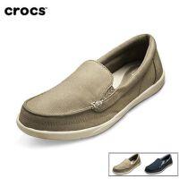 【迎春大放价】Crocs休闲鞋 卡骆驰女鞋 夏季沃尔卢二代帆布鞋透气平底鞋|202489 女士沃尔卢帆布便鞋二代