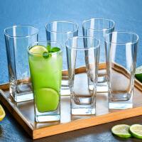 欧式玻璃杯家用杯子水杯套装客厅啤酒杯家庭耐热透明喝水茶杯6只kb6