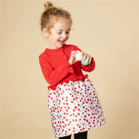 【年前最后狂欢,3件2.2折到手价:56.98】美特斯邦威旗下moomoo童装冬季女幼童宝宝大红色长袖针织连衣裙