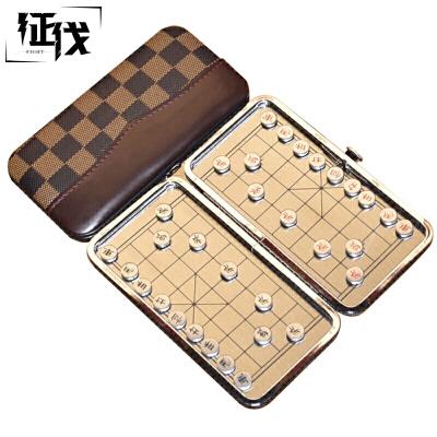 征伐 象棋 折叠磁性儿童中国象棋套装迷你便携棋盘迷你象棋便携象棋,灵巧方便