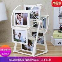 创意DIY手工照片风车旋转相框摆台相册结婚纪念韩式浪漫摆件 自店营年货