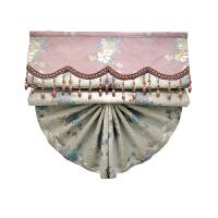 欧式复古扇形罗马帘升降帘半遮光美式中式窗帘布艺阳台卧室罗马帘
