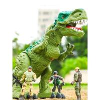 遥控霸王龙会走儿童套装男孩恐龙玩具电动下蛋仿真动物
