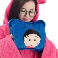 双插手暖宫宝宝 充电暖手宝 毛绒注水电热水袋 电暖宝 暖水袋