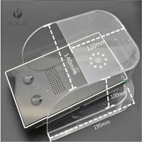 门铃防水罩防雨罩 可视对讲门口机防水罩 对讲主机防雨罩防水罩 N185大号(有盖) 透明