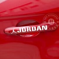 20180823212501926飞人乔丹NBA 汽车门把手 篮球贴纸 反光车贴 air jordan球队明星