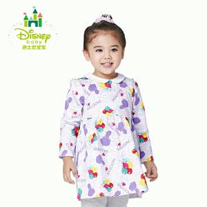 迪士尼Disney女童连衣裙春秋女宝宝碎花裙子长袖淑女裙163Q636