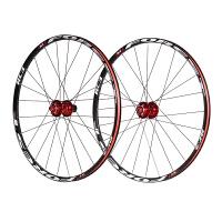 26寸山地车轮组120响5培林轮组 自行车碟刹27.5寸轮组 RC3破风扁条 黑黑黑圈 白标26寸