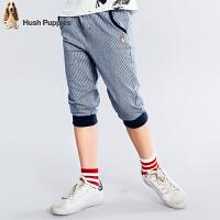 【3折价:80.7元】暇步士童装2018新款夏装男童裤子中大童七分裤儿童针织7分短裤