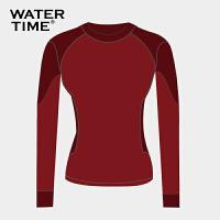 潜水服女防水母衣服运动泳装女士分体长袖防晒显瘦沙滩游泳衣
