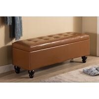 换鞋凳储物凳可坐收纳凳子试鞋凳鞋柜服装店沙发凳长方形皮凳