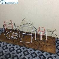 创意家居装配几何摆件框架方形正方形创意家居双人雨伞布料家用加大防滑情侣拖鞋家居