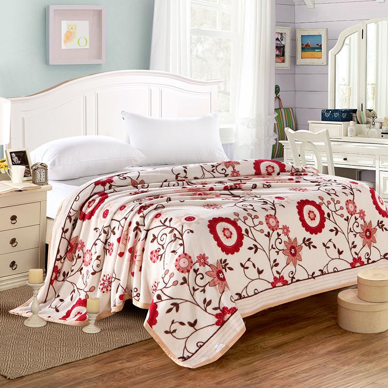 毛毯加厚双层冬季盖绒毯子结婚庆大红双人毯   商品中涉及尺码或活动价格等问题请及时联系客服,如果规格不详拒绝发货