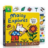 【全店300减100】英文原版 Maisy Explores: A First Words Book 小鼠波波系列 低幼