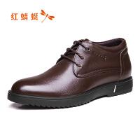 红蜻蜓男士皮鞋商务正装真皮男鞋春季休闲鞋内增高鞋子男断码清仓
