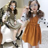 女童连衣裙套装2018春装新款韩版儿童吊带裙两件套公主女孩套装潮