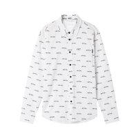 【2件2.5折叠券价约:36,11月16日仅一天】美特斯邦威长袖衬衫男新款时尚潮流个性衬衣秋季上新