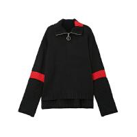 【2件2.5折到手价:】美特斯邦威套头毛衣女时尚MTEE可口可乐拉链高领毛衣