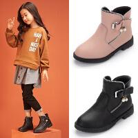 20181103105927574女童靴子真皮公主靴2018新款秋冬韩版可爱时装靴中大童女童鞋短靴
