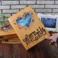 创意复古木盒同学录 男女学生高档盒装毕业纪念册 大号活页留言册